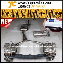 2013 Brand New S4 Look A4 exhaust system,Car Muffler with Diffuser For Audi A4 B9