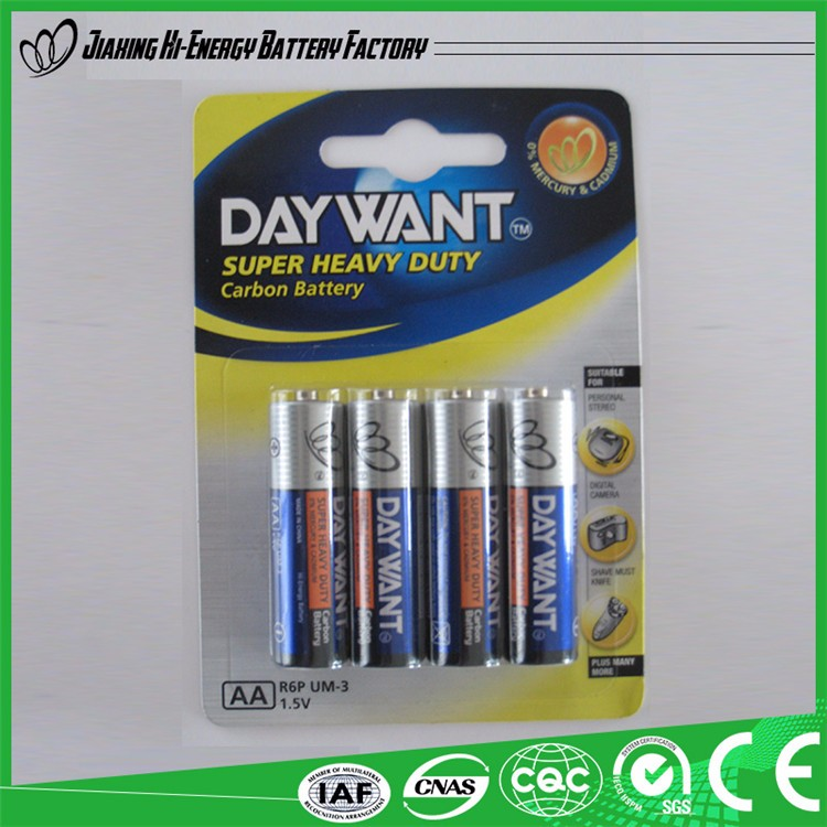 Alibaba Suppliers Guaranteed Quality Environment Friendly Dry Battery Aa Battery