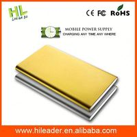 2015 Ultra-thin metal 5000mah business of power bank for mobile