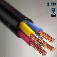 Low Voltage Copper Conductor XLPE Insulated Electrical Power Cable 5x4mm2
