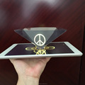 Promotional gift Full 3D Holographic Display 3D Holographic Pyramids for tablet