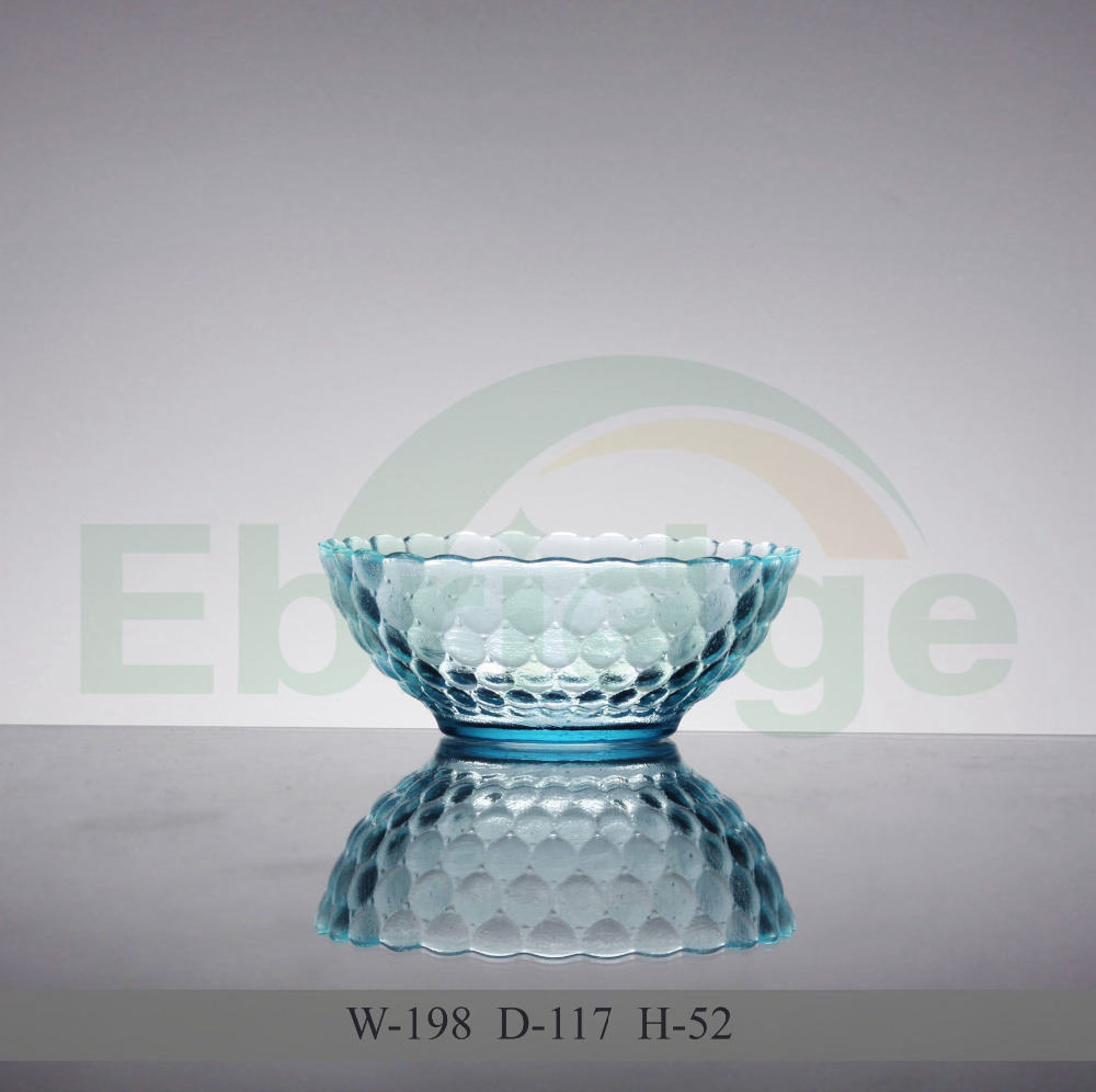 Glass candy bowl with bow tie for Christmas