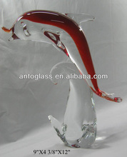 handmade glass dolphin sculpture