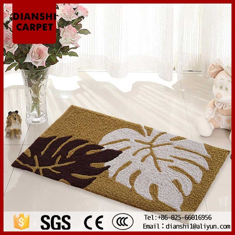 Machine Embroidery Morden Cheap Rag Rugs With Customized Size