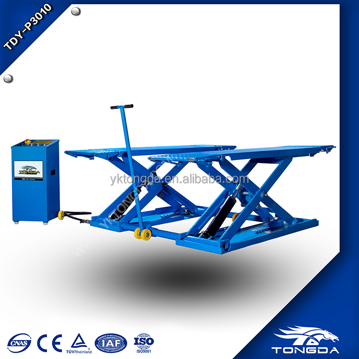 3T full rise scissor car lift with CE used car scissor lift for sale tongda machine