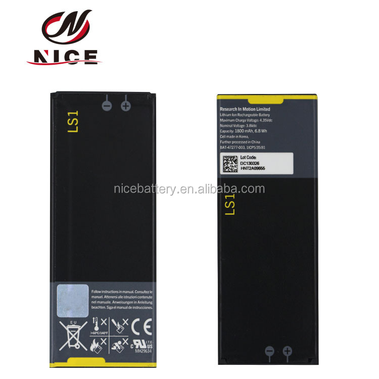 High-capacity phone battery LS1 for blackberry Z10 rechargeable P9982 phone battery