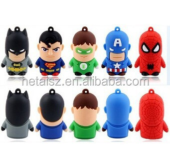 Top Sale superhero usb flash drive 500gb/cartoon character usb flash/usb flash drive wholesale bulk buy from china