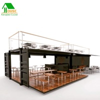 prefabricated container coffee bar restaurant 20ft 40ft