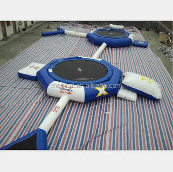 Popular Aquapark Inflatable Trampoline Combo Inflatable Water Trampoline