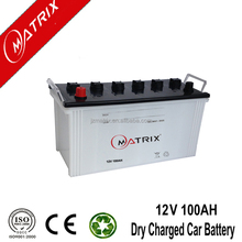 lower price good quality 12v100AH N100 dry charged Auto / truck battery