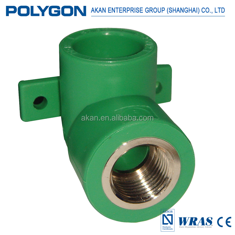 Wholesale heat Insulation Polygon Fittings Brass Insert Ppr Pipe Tee