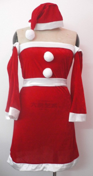 Wholesale Classic Santa Claus Costume, Christmas miniskirt for hot sale