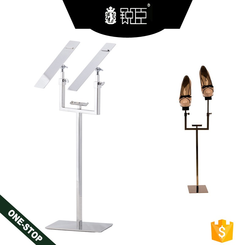Upscale footwear shop wear store exhibition tool metal shoes display stand