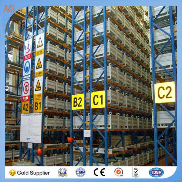 With good reputation Global logistics tracking Blue and orange pallet racking