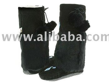 Canada Mukluk Boots Rabbit Fur Mukluks Leather Black Muk Suede Mukluk Boot