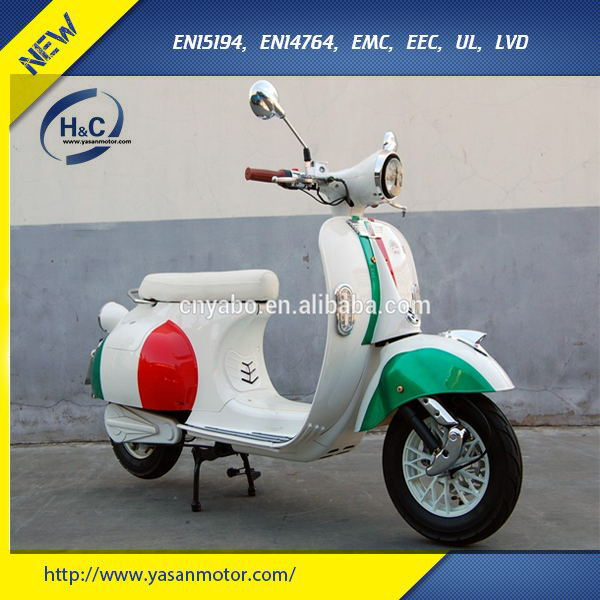 Hot selling Big vespa electric motorcycle 1500w 72v vespa electric scooter wirh eec approved