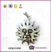 Stainless Steel Unisex Jewelry 2016 charm necklace Sun Casting Pendents