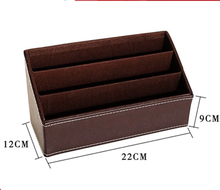 NAHAM China faux leather office desktop supplies desk organizer