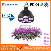 Indoor LED Growing lights E26/E27 PAR30 PAR38 40w 50w 60w color changing flower lamp for hydroponics plants growing