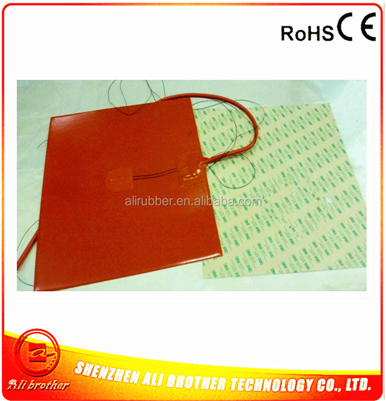 Silicone Heating Mat for Metal Plate 110v 1500w 560*815*1.5mm Flexible Silicone Rubber Heater 1000mm lead wire from 560mm side