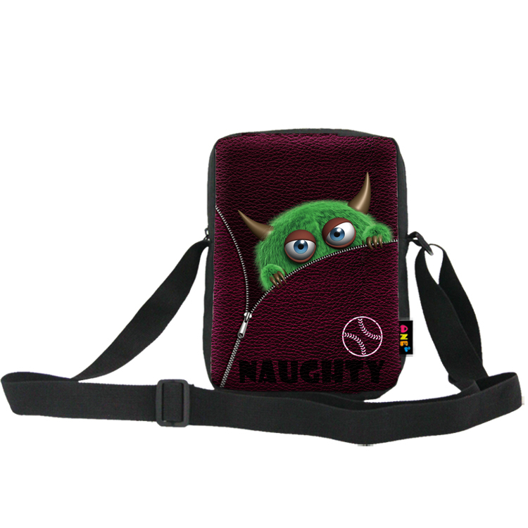 ONE2 Design monster emoji single long strip shoulder messenger bag for high school students