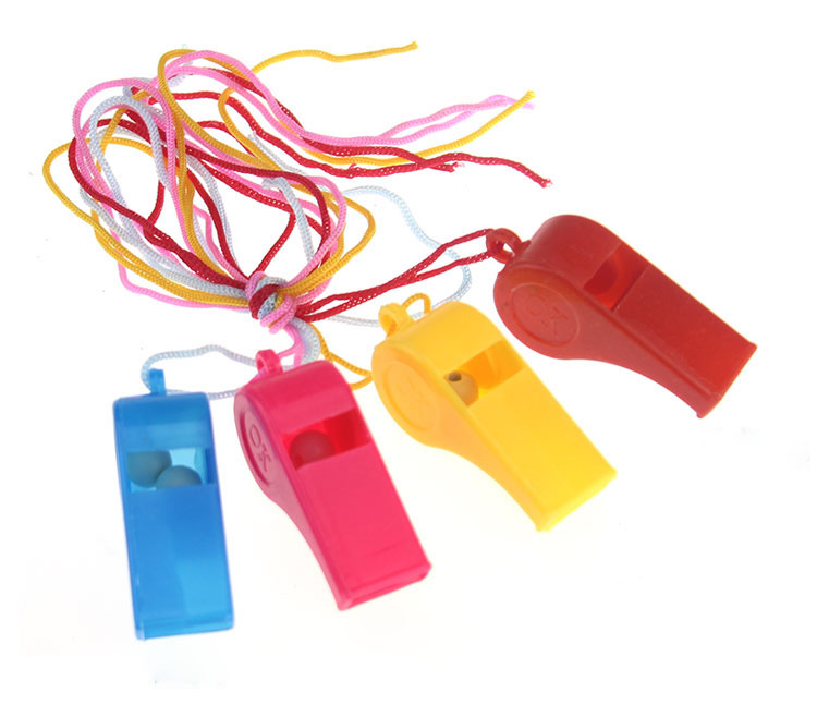 Colorful Promotional Fan Custom Sport Plastic Whistle