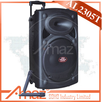 Powerful rechargeable trolley speaker with usb sd,remote control