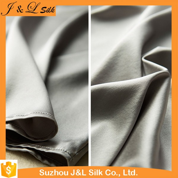 Custom Plain Dye Satin 100%Pure Silk Charmeuse Fabric