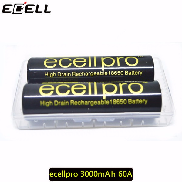 High drain ecellpro 3000mah 18650 battery 10c diacharge for sony vtc6
