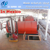 2016 Doing 10T/D scrap tire pyrolysis to oil plant green recycling