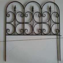 flower protection wrought iron small garden fence with low cost