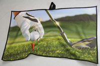 high quality custom waffle sports golf towel with loop clip