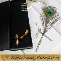 Good and Perfect Gift,Feather Dip Pen Set for corporate