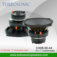 8 inch PA coaxial speaker with compression driver