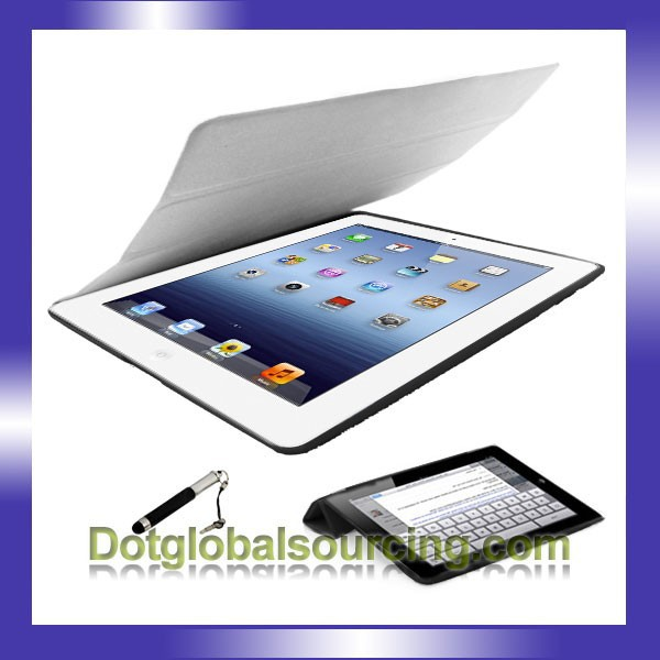 Newest Cheap wholesale tablet leather case for ipad 2 for ipad 3