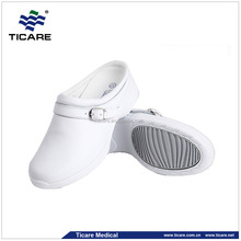 EVA Sole White Leather Hospital Nurse Shoes