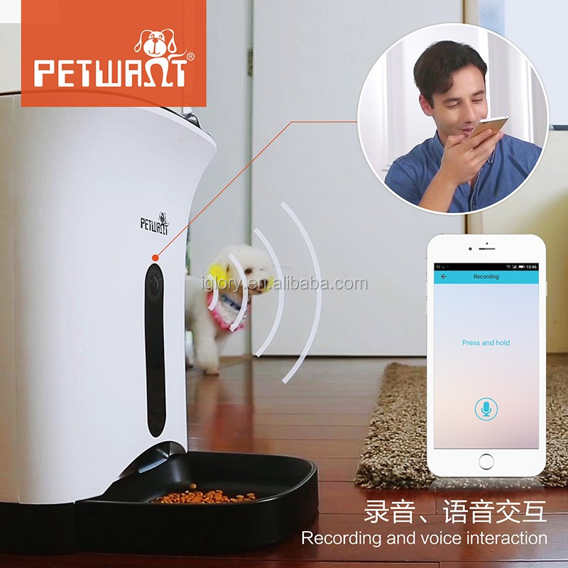 2017 remote control wifi smart APP for android and IOS web camera video monitor automatic pet feeder