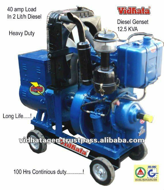 SINGLE PORTABLE 10 KVA DIESEL GENERATOR
