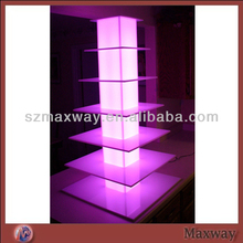 Tiers High Quality LED Acrylic Wedding Cupcake Tree/tower Cakes rack desert/fruit display stand
