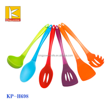 High quality kitchen utensils 6pcs silicone spoon set , best silicone spatula set