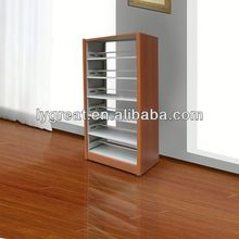 newly design modern wooden white bookshelf in library