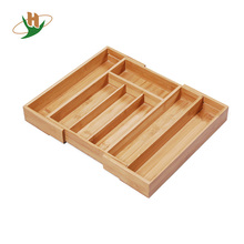 Wooden drawer storage / bamboo solid cutlery tray