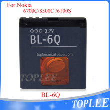 Hot selling factory price mobile phone battery BL-6Q 970mAh battery for Nokia 6700C 7900C 6700 7900 8500C 6100S