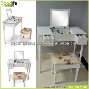 Knock down package dressing table with 2 drawers