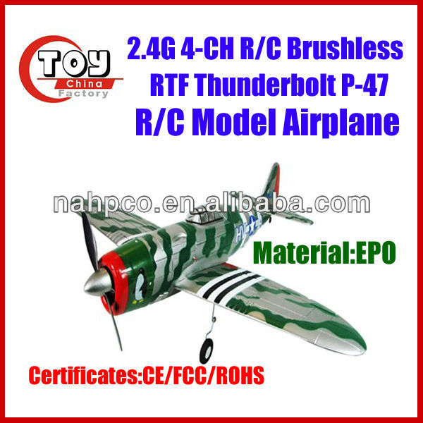 wholesale toy plane thunderbolt EPO 2.4G 4CH rc airplane model with high quality