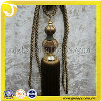 Masjid Roof Model Wood Tassel Tieback With for Decrative and Fasten Curtain Drapery