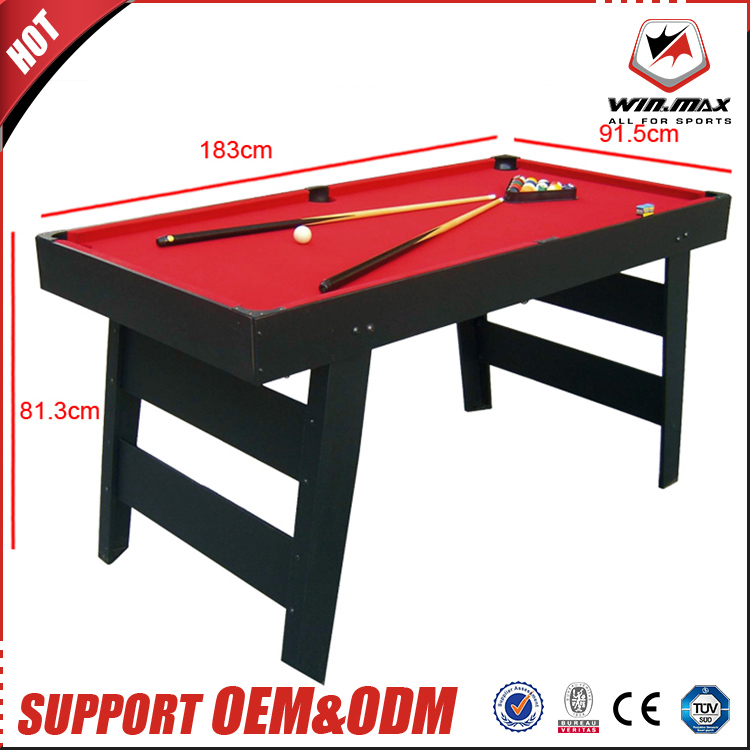Professional Factory Supply MDF Standard Quality Indoor Game Portable Billard Pool Table