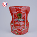 Non-toxic Ketchup Packaging Plastic Stand Up Vacuum Food Storage Bags For Custom Shape