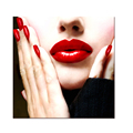 "Sexy Red Lips Woman Photo Canvas Art Fashion Lady's Dressing Room Decoration(20""x20"") Canvas Prints Ready to Hang"