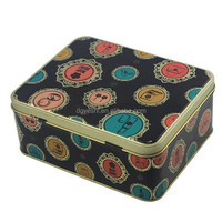 Decorative Metal Cake Tin Boxes With Hinged Lid YS-168x134x57